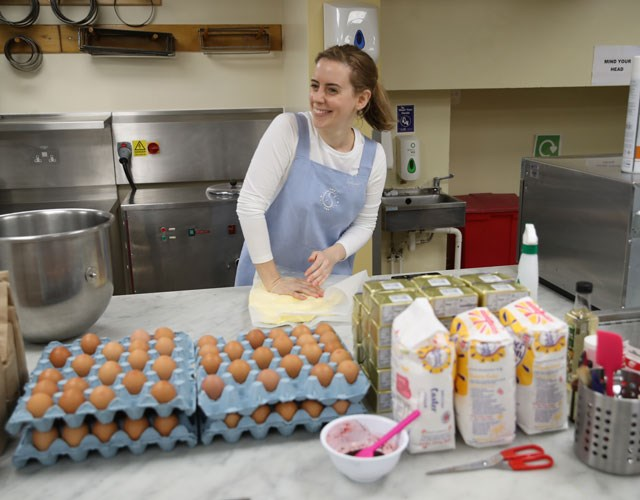 Cake designer Sophie Cabot will use more than 400 eggs in the making of the royal wedding cake. .