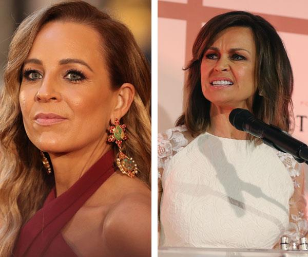 Carrie Bickmore is reportedly fuming at *The Project*'s co-star Lisa Wilkinson's pay-packet, while also banning everyone's favourite, Kerri-Anne Kennerley from appearing on the show. *(Images: Getty)*