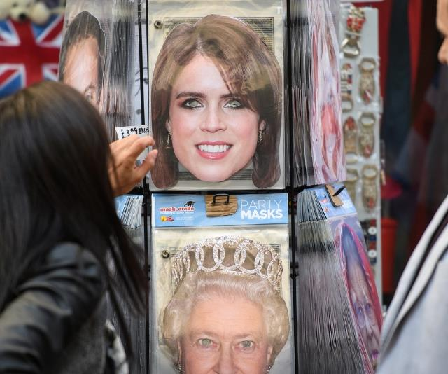 Should you fancy it, you can buy Princess Eugenie 'party masks' from gift shops in Windsor.