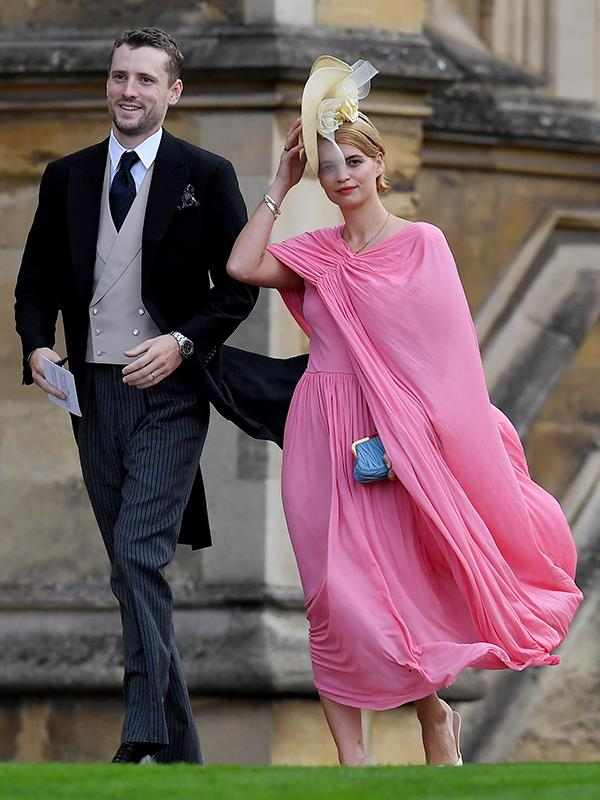 British model Pixie Geldof arrives with George Barnett.