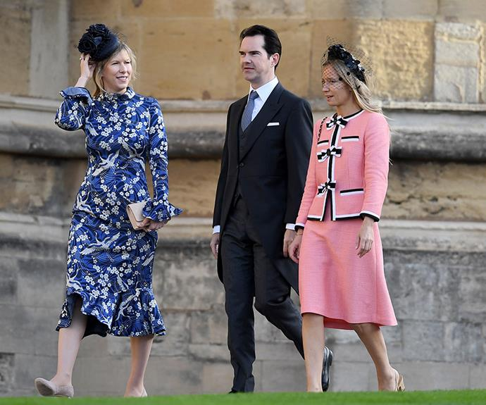 Jimmy Carr with Karoline Copping.