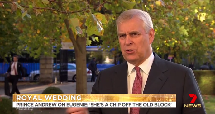Prince Andrew was full of proud dad moments during his interview.