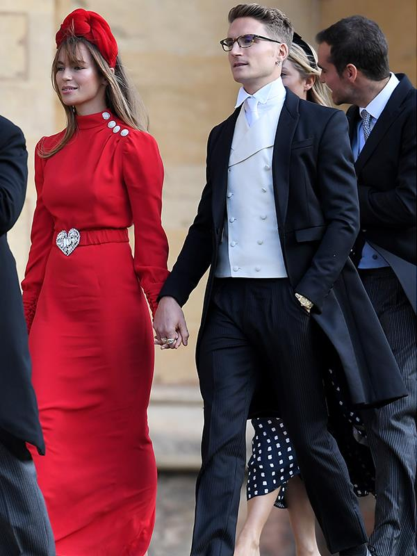 What's a royal wedding without a reality TV star? *Made in Chelsea*'s Oliver Proudlock with his partner Emma Louise Connolly.