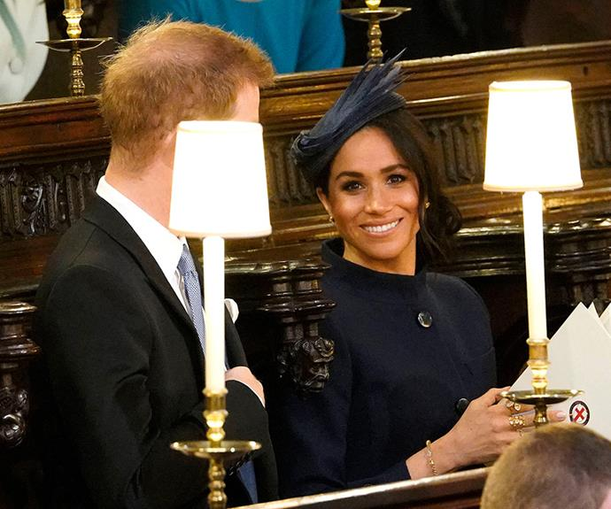 Meghan was all smiles.