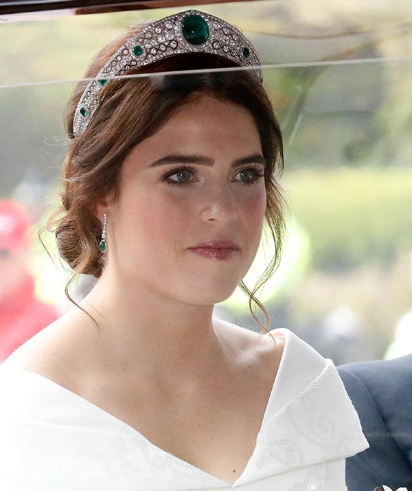 Eugenie looked stunning in her tiara.