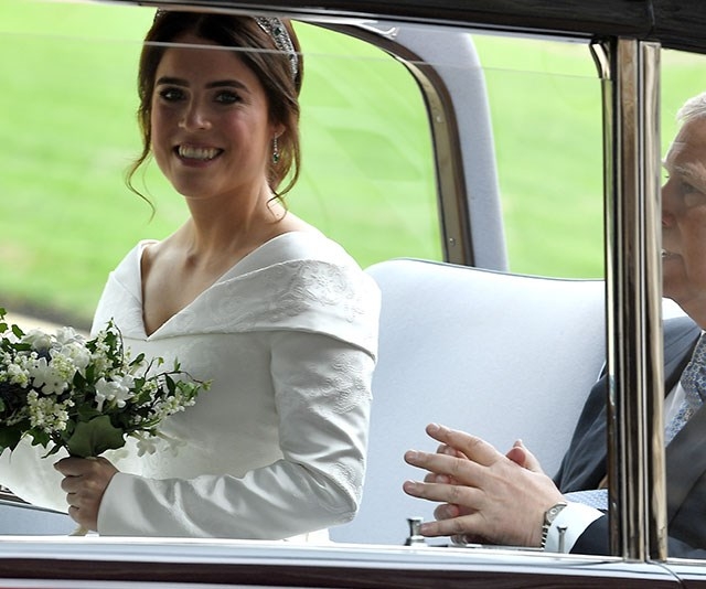 The bride was all smiles!