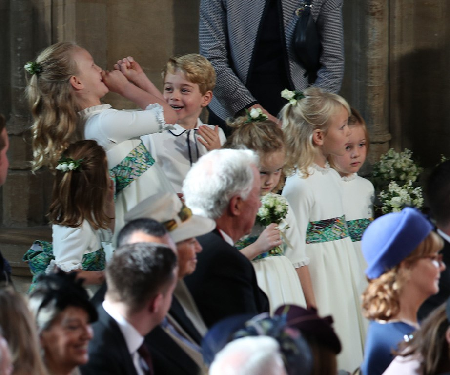 Savannah Phillips made her second cousin Prince George giggle with her fanfare impression.