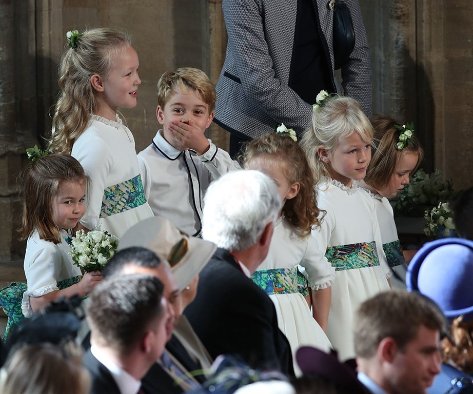 Prince George and Princess Charlotte also share a close bond with their cousin Savannah Phillips (pictured here standing between the two), who is the daughter of Peter Philllips, Zara Tindall's older brother. *(Image: Getty)*