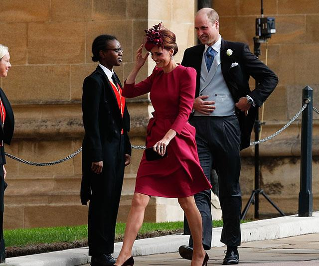 Kate opted for an Alexander McQueen dress - the same designer who made her 2011 wedding dress.