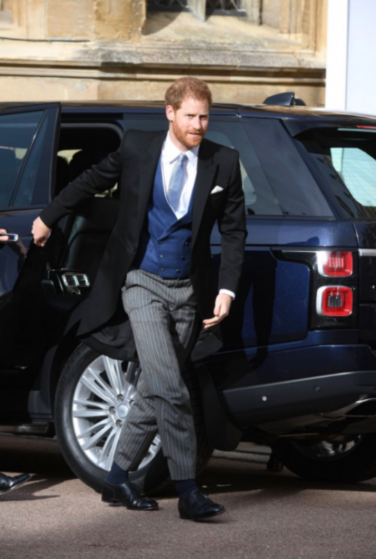 Prince Harry is looking as dapper as ever in his morning suit.