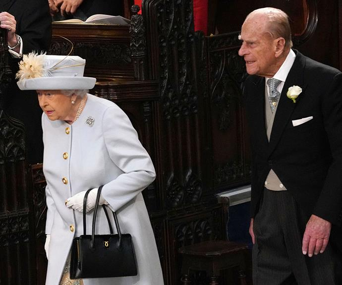 Last to arrive were the Queen and Prince Philip, who many expected to not attend.
