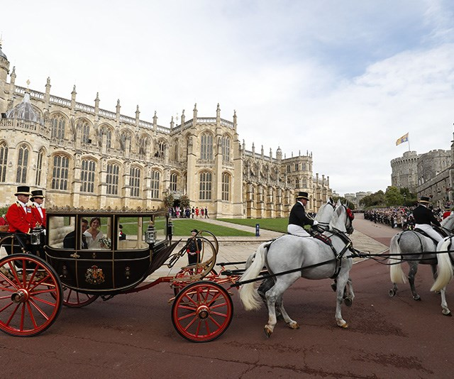 St George's Chapel was the same place Duchess Meghan and Prince Harry were married in May.