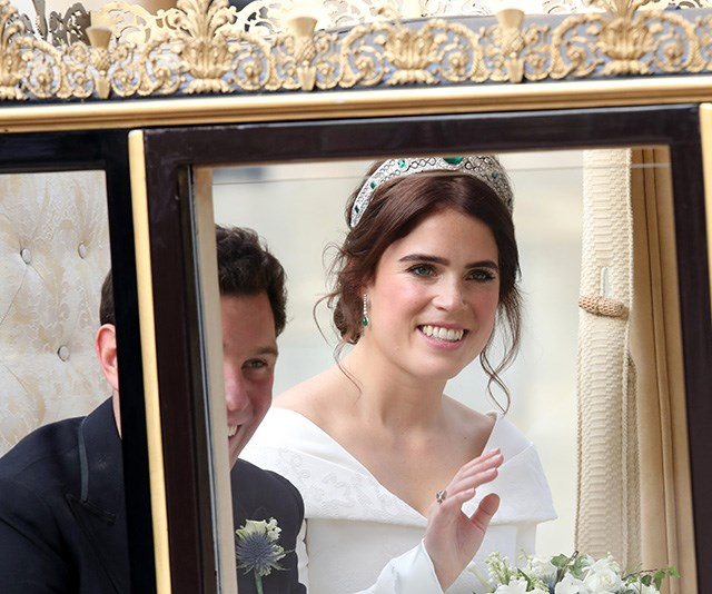 Plenty of royal fans turned out to see the royal bride wed her long-term boyfriend.