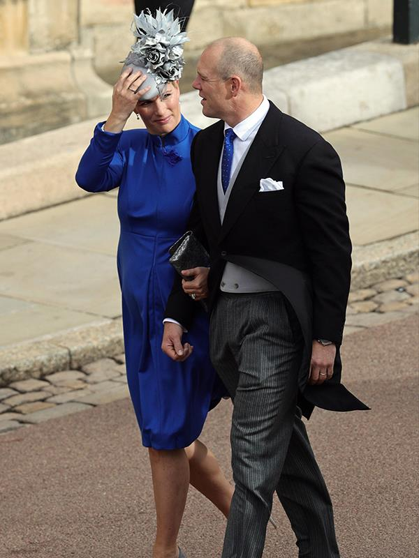 Zara and Mike Tindall looked very much in love as they walked to the chapel.