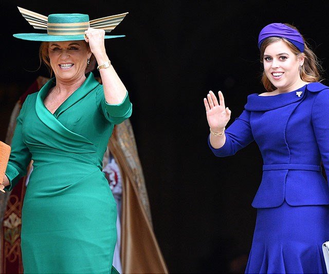 A royal wave from the mother and daughter.