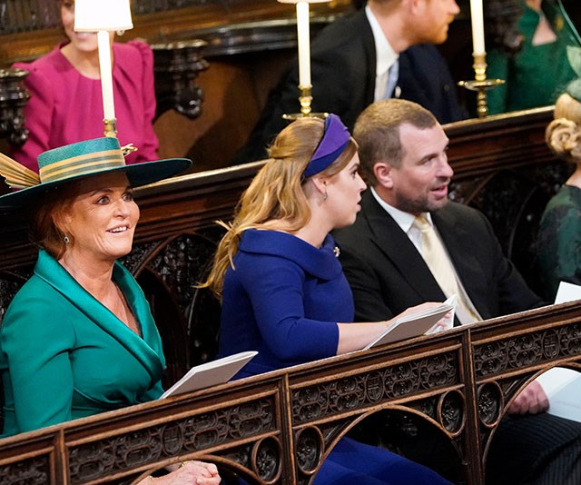 Fergie arrived with Princess Beatrice.