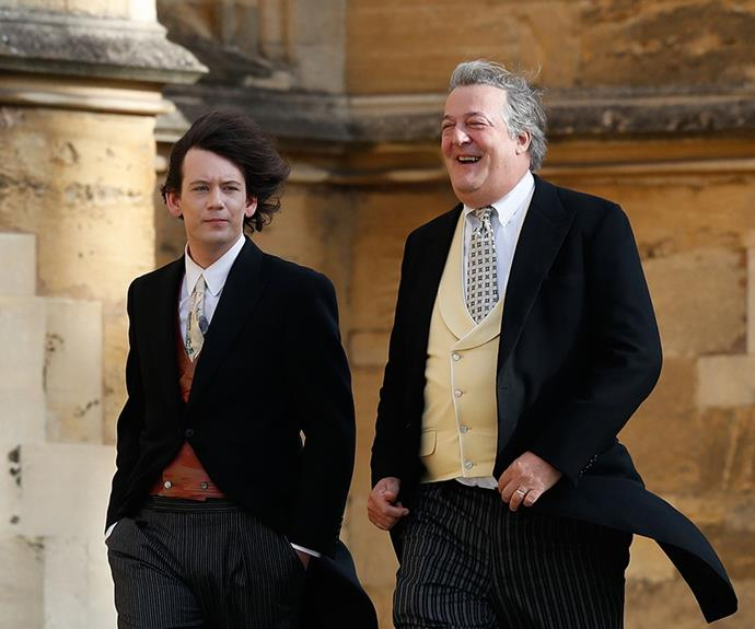 Stephen Fry and husband Elliott Spencer were in fine form.