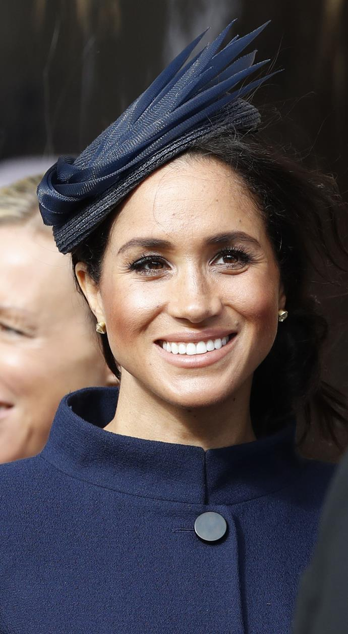 Further speculation about Meghan's glow and fuller face has set the internet into meltdown. *(Image: Getty Images)*