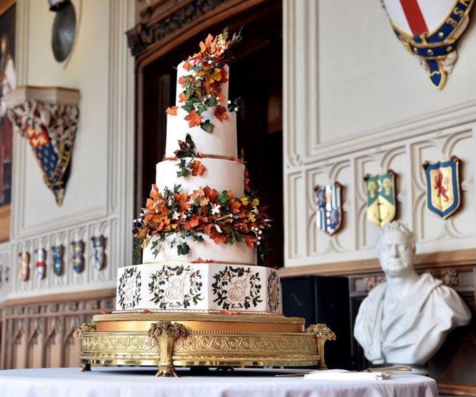 Th royal wedding cake made by London-based cake designer Sophie Cabot.