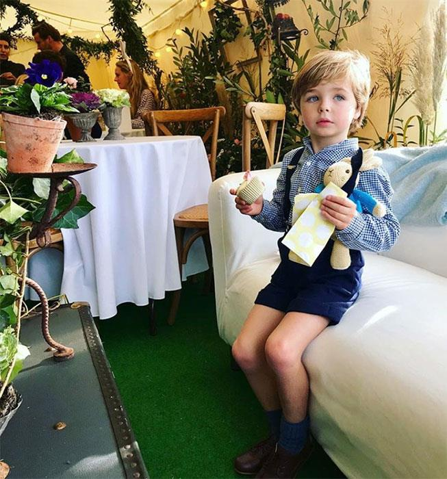 Tamara Beckwith posted a gorgeous shot of her son which gave us a glimpse inside the tent.
