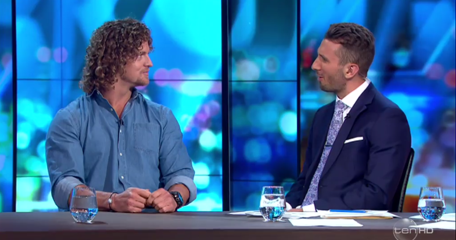 *The Project* host Tommy Little spoke out in defense of the Honey Badger. *(Image: Network Ten)*.
