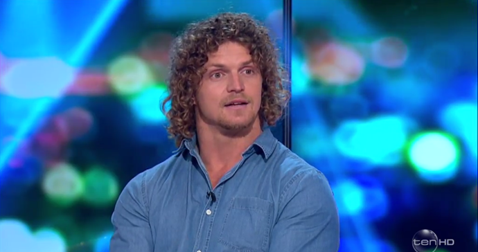 Nick has defended himself on *The Project* saying the experience put him in a low mental state. *(Image: Network Ten)*