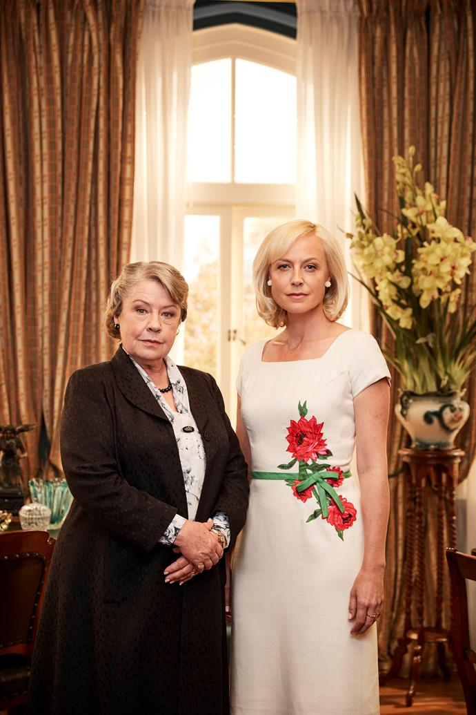 *A Place To Call Home* co-stars Noni and Marta Dusseldorp.