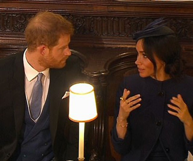 The Duchess has a quick, stern word to her husband.