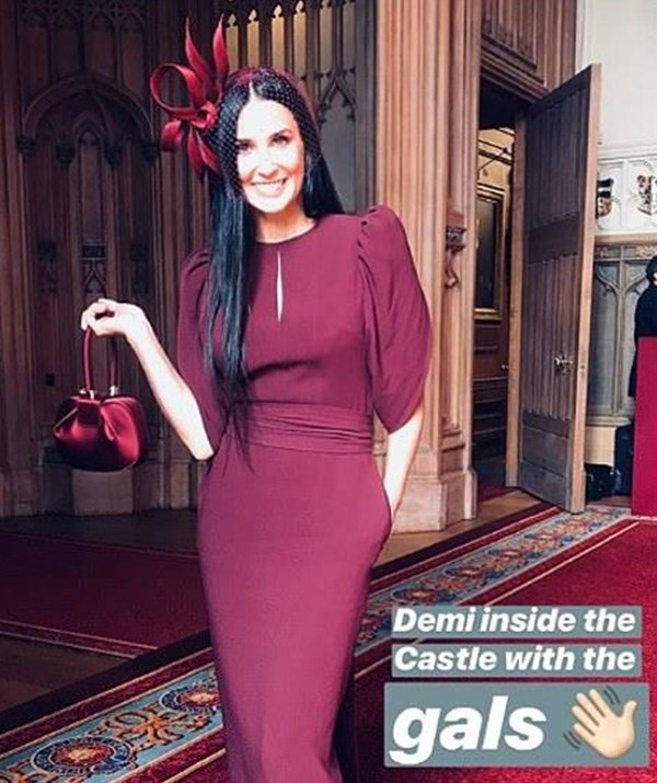 Designer Stella McCartney shared a picture of Demi Moore from inside the castle. *(Source: Instagram/stellamccartney)*