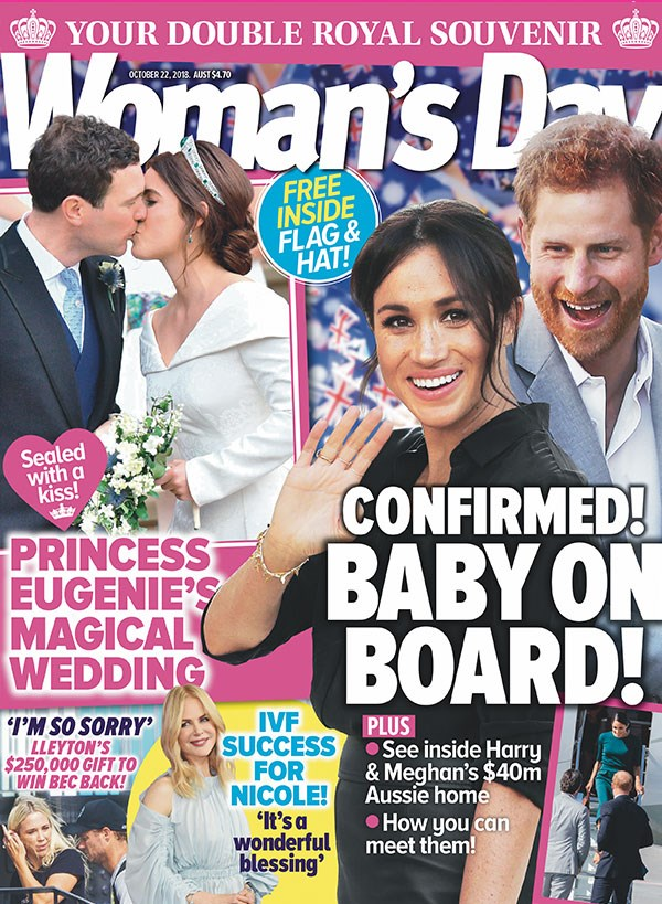 For all the details on Meghan and Harry's Royal Baby, get the new issue of *Woman's Day* - on sale now!