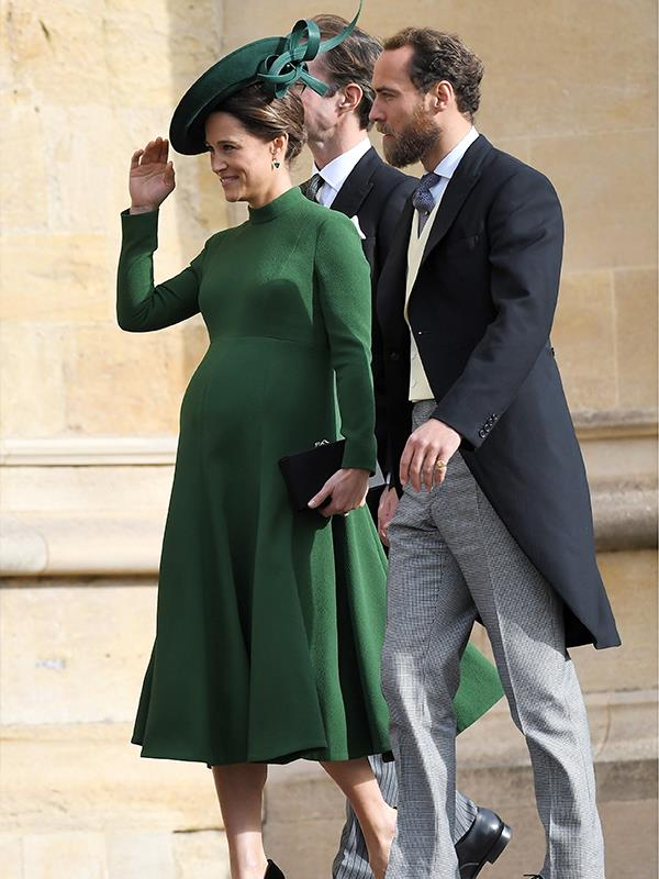Pippa glowed in green at the wedding of Princess Eugenie and Jack Brooksbank *(Image: Getty Images)*