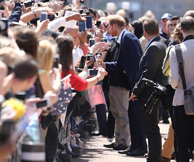 Hundreds of people gathered to catch a glimpse of the royals outside the Sydney Opera House. *(Image: Media Mode)*