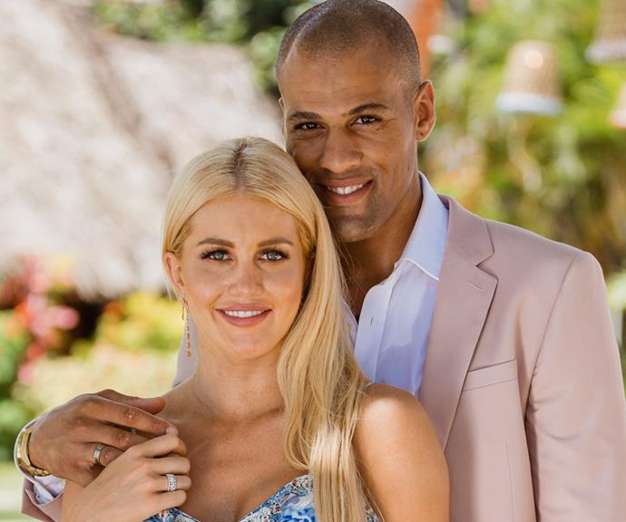 Ali with her ex-boyfriend Grant Kemp from *Bachelor in Paradise*. *(Image: Network Ten)*