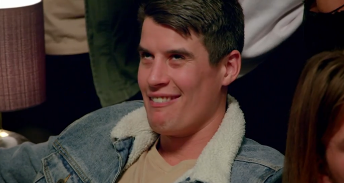 Bill Goldsmith rolling his eyes during the first week of *The Bachelorette*. *(Image: Network Ten)*