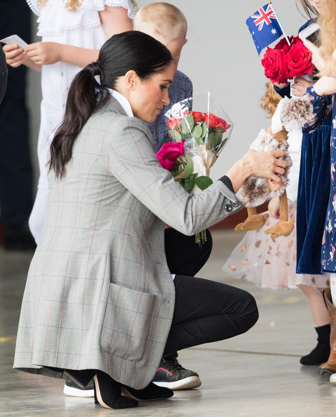 The Duchess received some sweet gifts from fans in Dubbo. *(Image: Getty Images)*