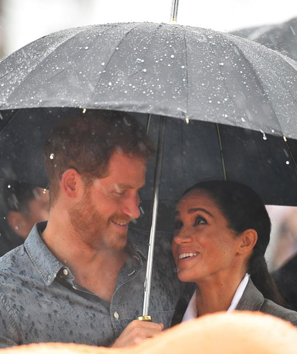 The look of love in the rain. *(Image: Rex)*