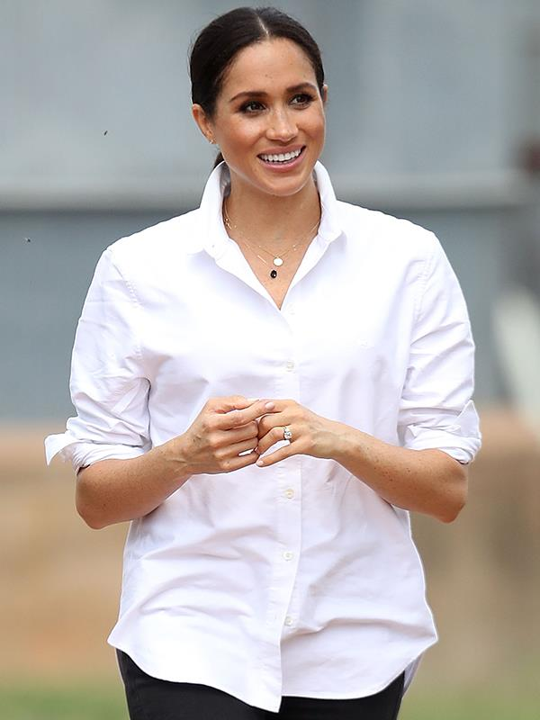The Duchess of Sussex will be a first-time mum at 37 and will be one of the older royal mums. *(Image: Getty Images)*