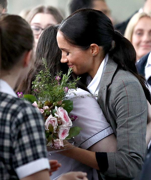 A royally warm embrace.