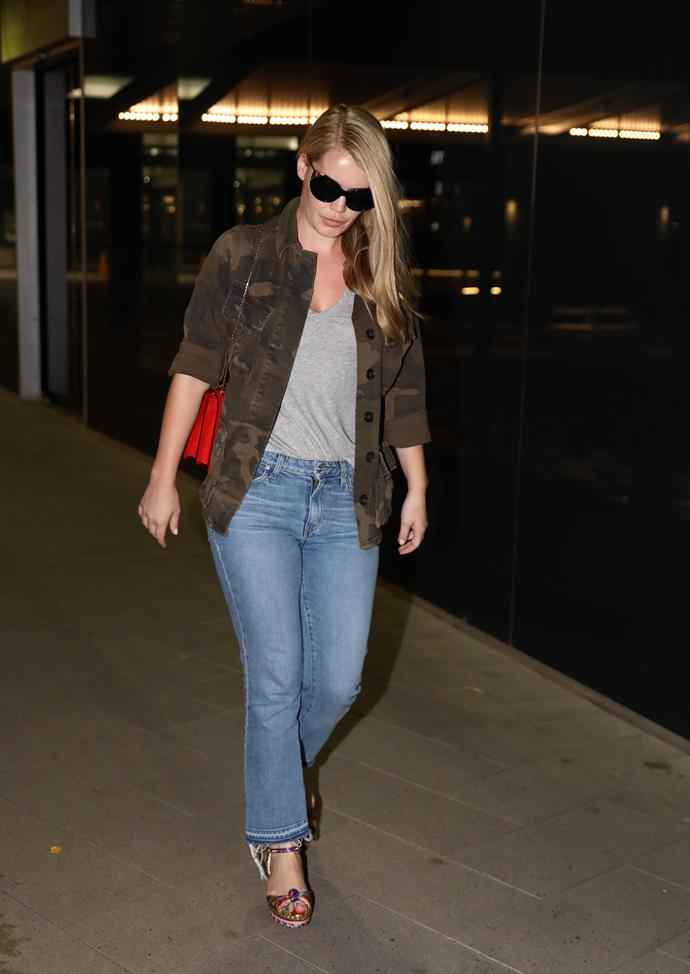 Lady Kitty Spencer was pictured arriving in Perth on Thursday morning. *(Image: Media Mode)*