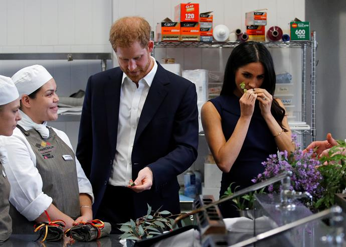 The couple sampled some of the fragrant ingredients. *(Image: Getty Images)*