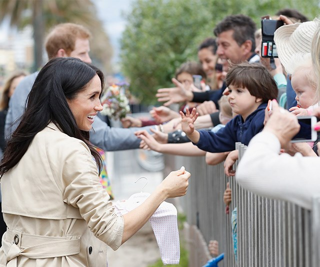 Thousands of royal fans greeted the couple in Melbourne. *(Image: Getty Images)*