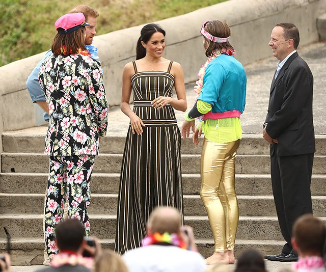 The couple participated in a 'Fluro Friday' session with a Bondi community group in Bondi on Friday. *(Image: Getty Images)*