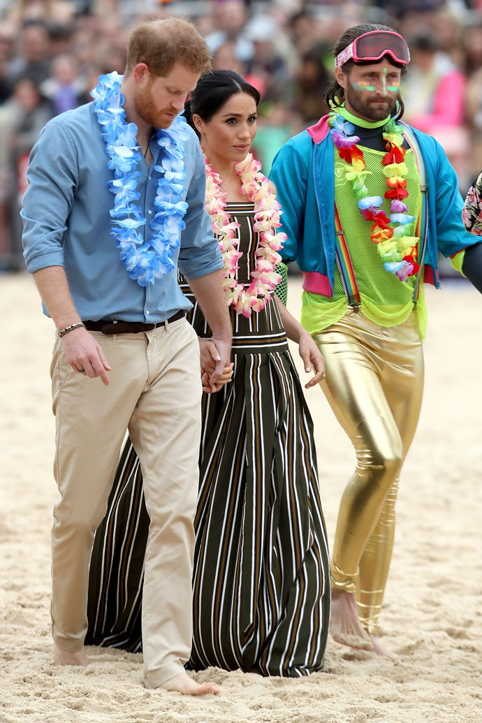 Lei's were also necessary for both royals upon arrival. *(Image: Getty Images)*