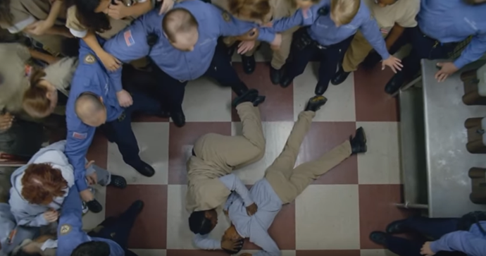 **POUSSEY'S DEATH**  What started out as a peaceful protest later resulted in the death of one of the series most beloved characters. After being pushed to the ground and held down by a prison guard, Poussey suffered a terrifying death through suffocation. Just when fans were hurting enough, we later found out she was only in Litchfield for a minor drug charge. RIP Poussey!