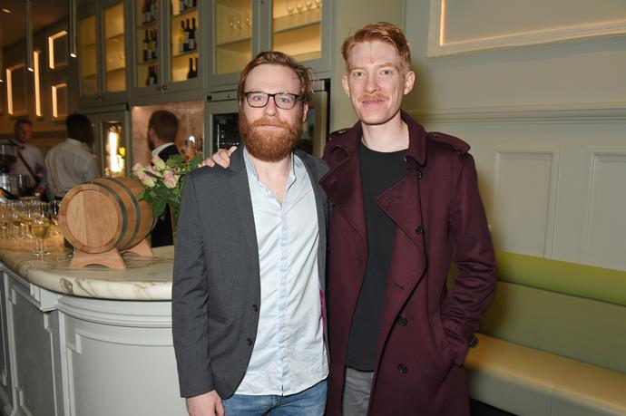 Brian and his brother Domhnall Gleeson.