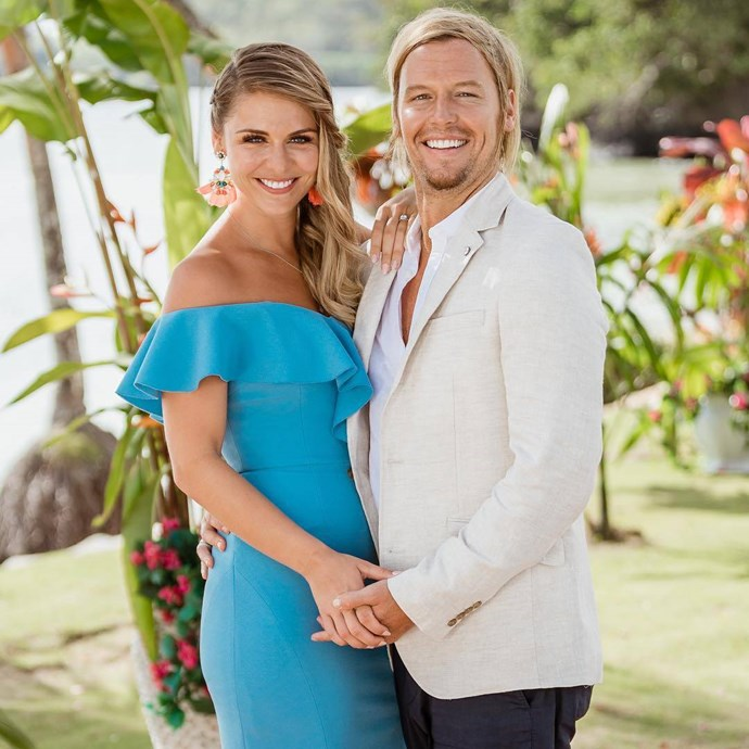 Sam Cochrane (pictured here with Tara Pavlovic on last season of *Bachelor in Paradise*) is making a comeback! *(Image: Network Ten)*
