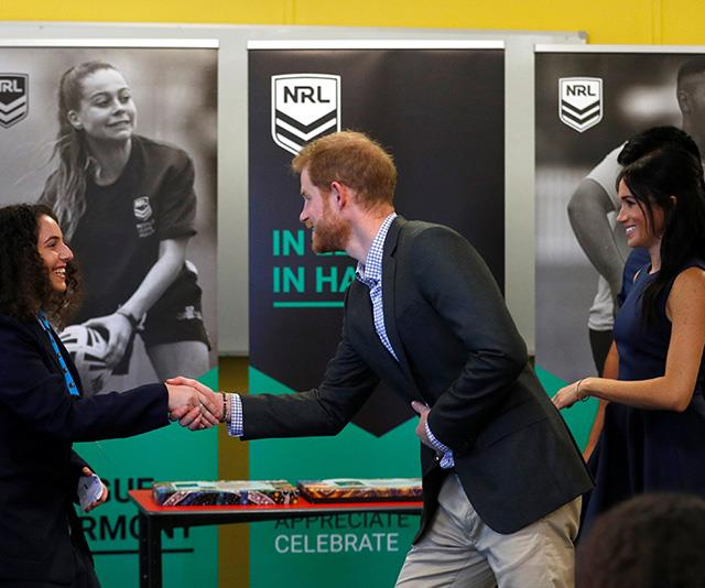 Ecstatic students shook hands with the royals. *(Image: Getty Images)*