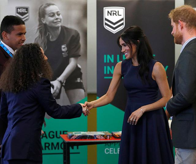 Some students were speechless when face to face with Harry and Meghan. *(Image: Getty Images)*