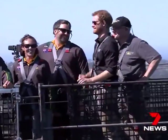 Prince Harry and Duchess Meghan will attend the opening ceremony of the Invictus Games in Sydney tomorrow. *(Image: 7 News)*