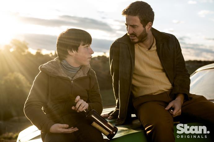 Thomas Fisher as Isaac Langlan and Ryan Corr as Sam